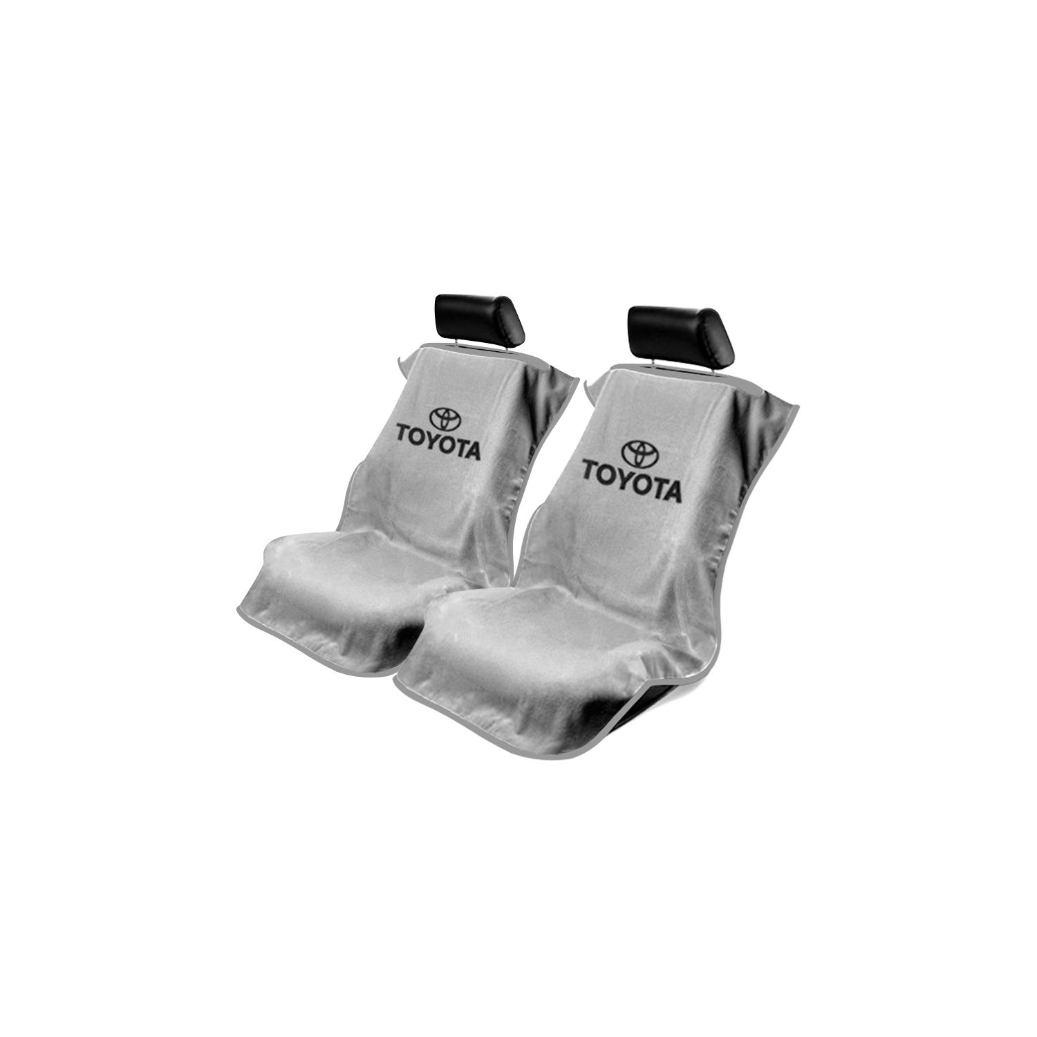 Astonishing Seat Armour Pair Of Grey Towel Seat Covers With Toyota Logo Sa100Toyg Pabps2019 Chair Design Images Pabps2019Com