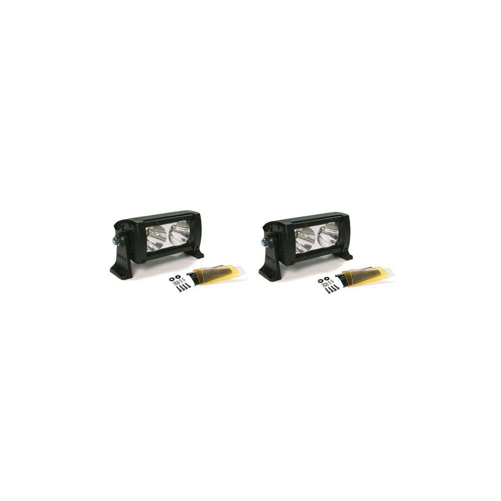Wurton ® - Dual 5 Inch 10 Watt High Performance Flood Beam LED Light Bar Kit (22052)