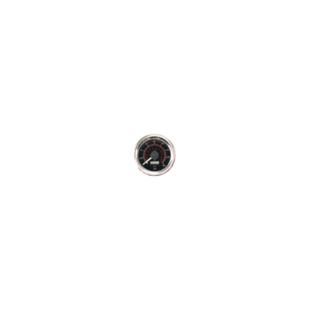 Viair ® - 2 Inch Dual Needle Illuminated Black Face In-Dash Gauge (90082)