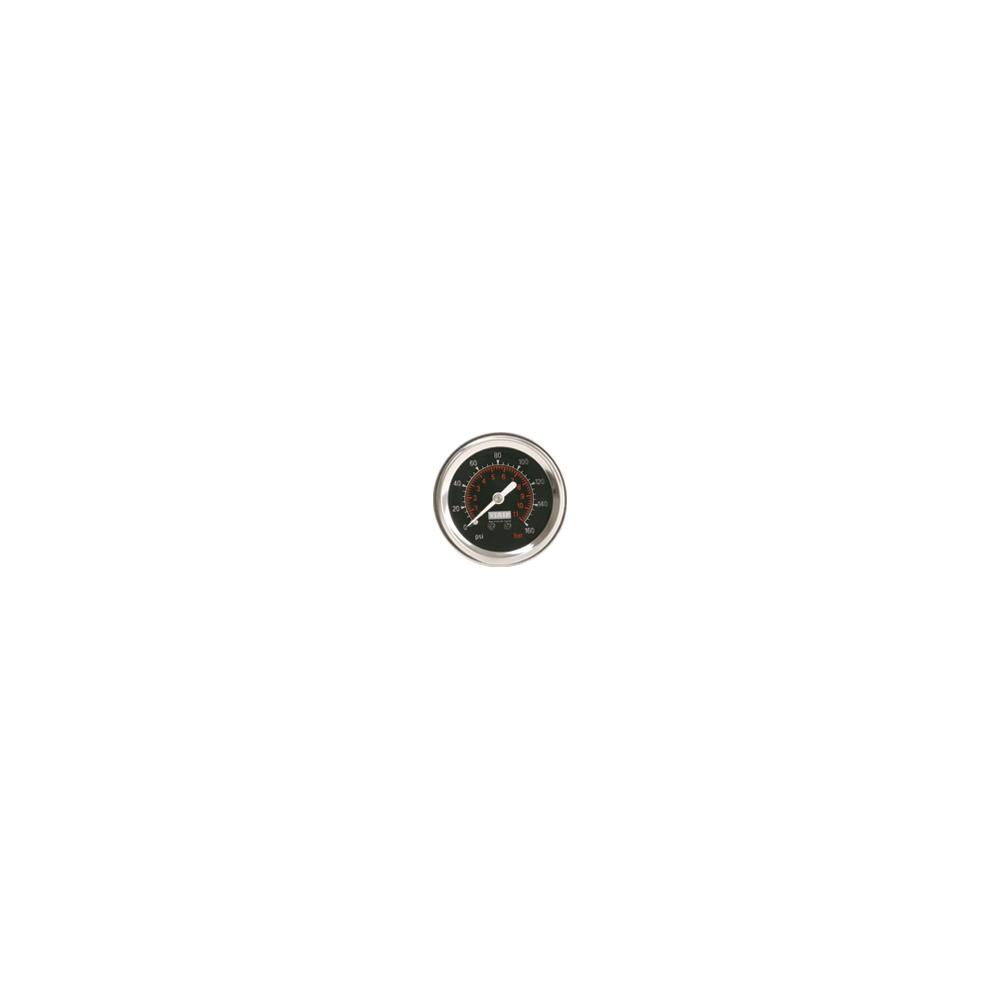 Viair ® - 2 Inch Single Needle Illuminated Black Face In-Dash Gauge (90088)