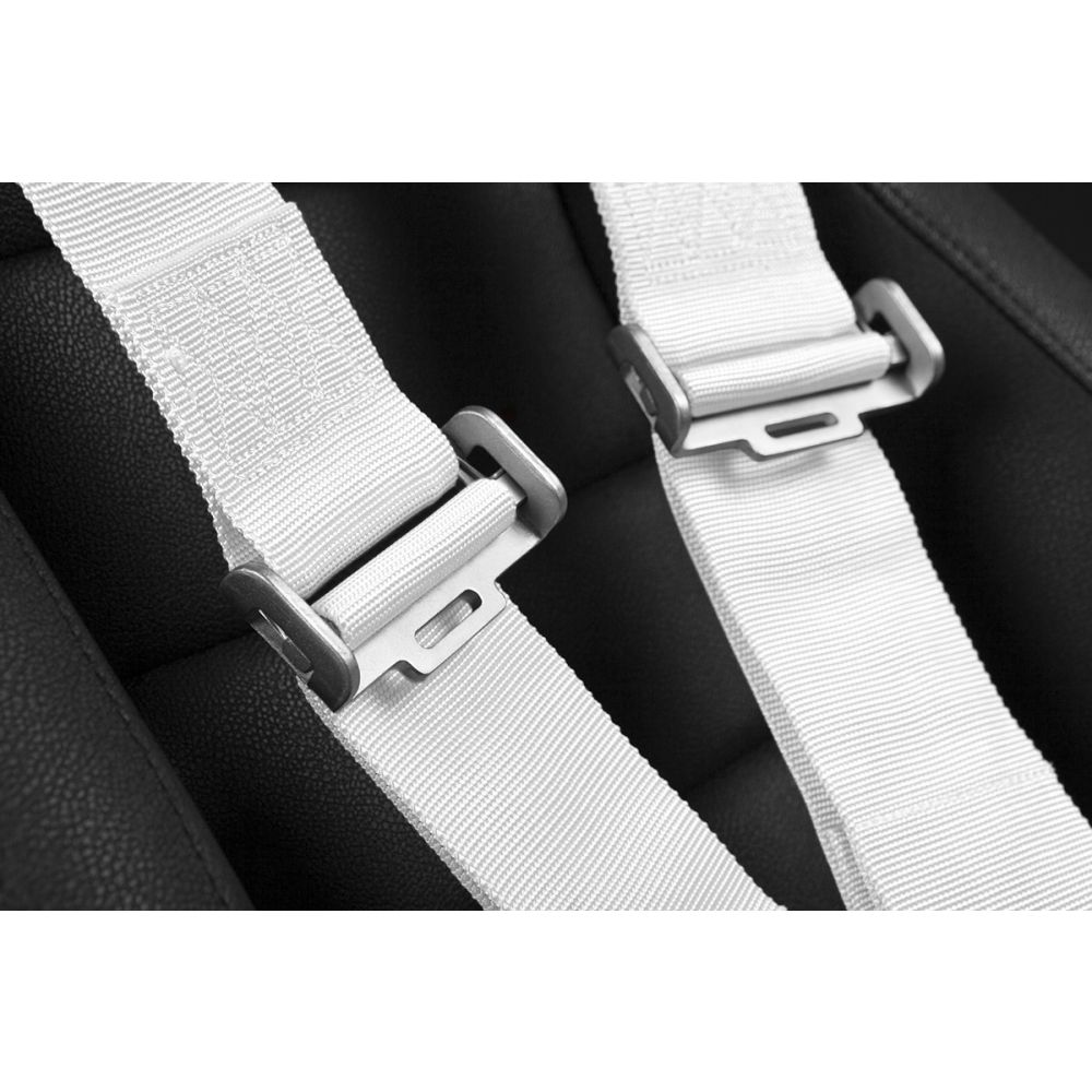 Braum ® - White 5 Point 3 Inch SFI 16.1 Racing Harness (BRH-WHS5)