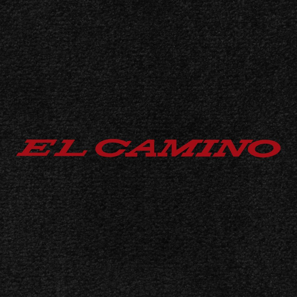 Lloyd Mats ® - Velourtex Black Front Floor Mats For Chevrolet El Camino 1966 With El Camino Red Embroidery