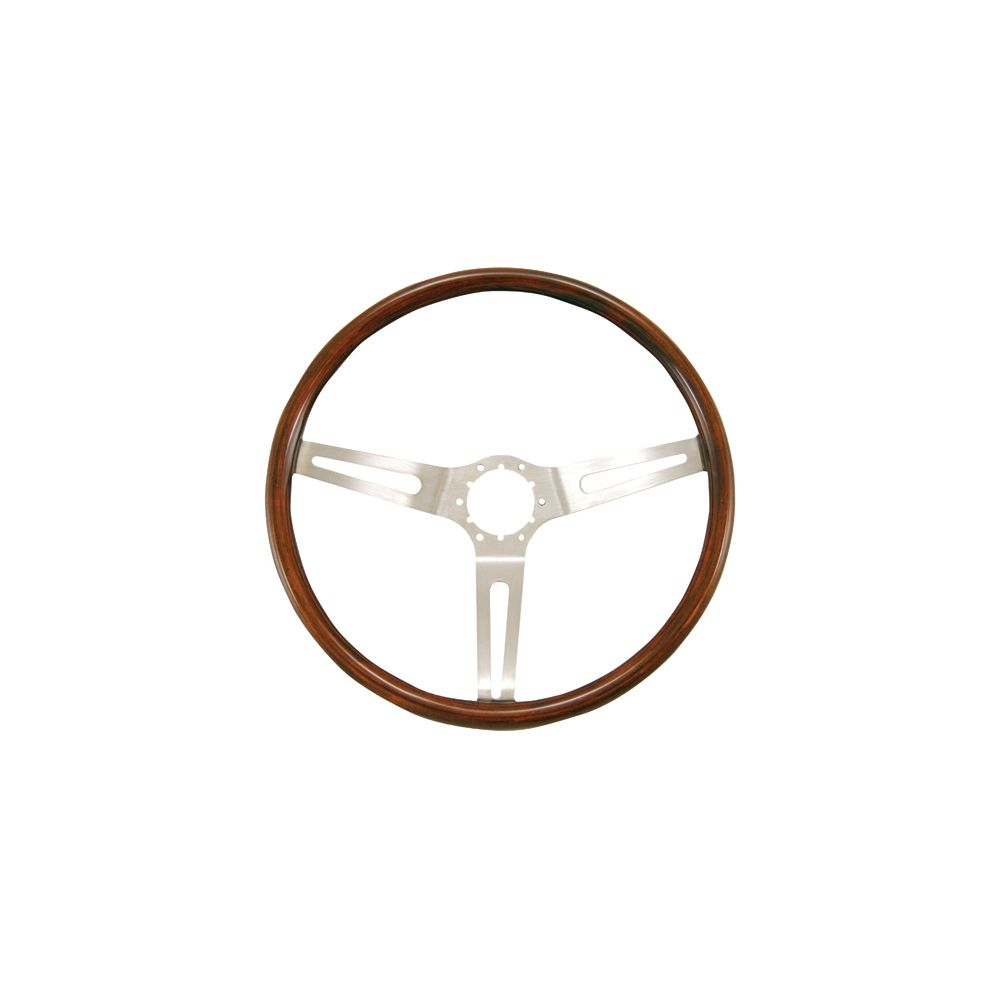 Grant ® - 14.5 Inch Hardwood Light Walnut Classic Series GM Steering Wheel with Stainless Steel 3-Spoke Design and 6 Bolt Pattern (930)