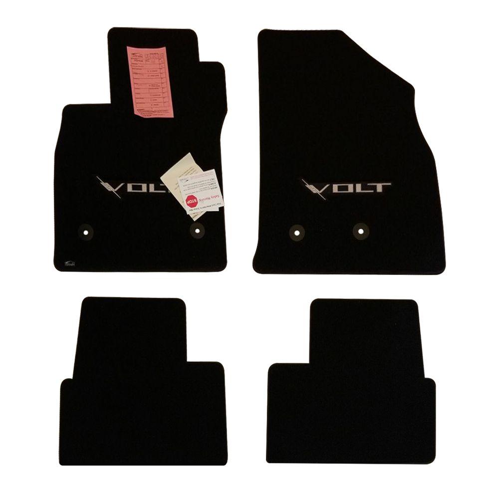 Lloyd Mats ® - Classic Loop Black 4PC Floor Mats For Chevrolet Volt with Silver VOLT Applique
