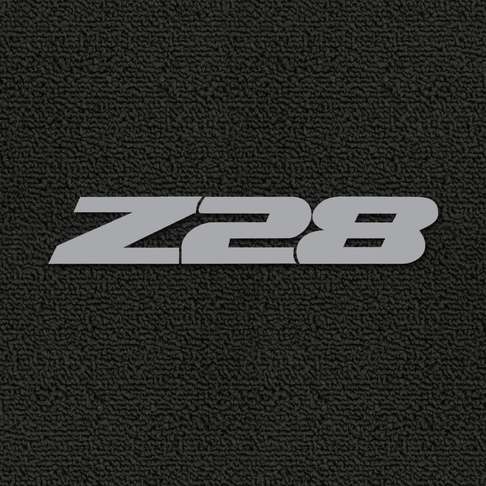 Lloyd Mats ® - Classic Loop Black Front Floor Mats For Chevrolet Camaro 1993-2002 with Silver Z28 Embroidery