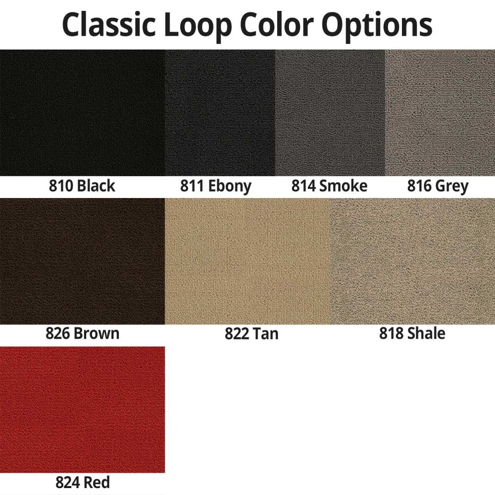 Lloyd Mats ® - Classic Loop Black Front Floor Mats For Chevrolet Caprice 1965-70 With Caprice Silver Embroidery