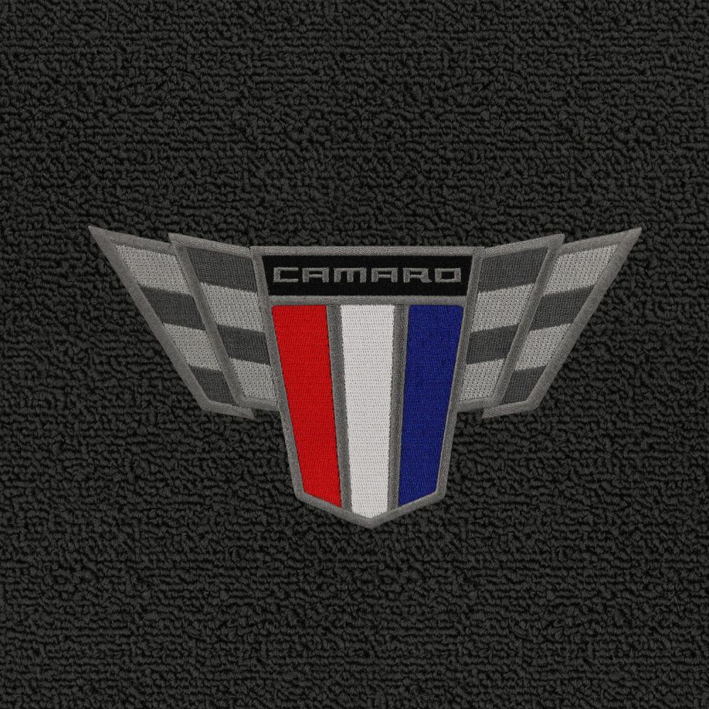 Lloyd Mats ® - Classic Loop Ebony Front Floor Mats For Chevrolet Camaro 2015 with Camaro Commemorative Applique