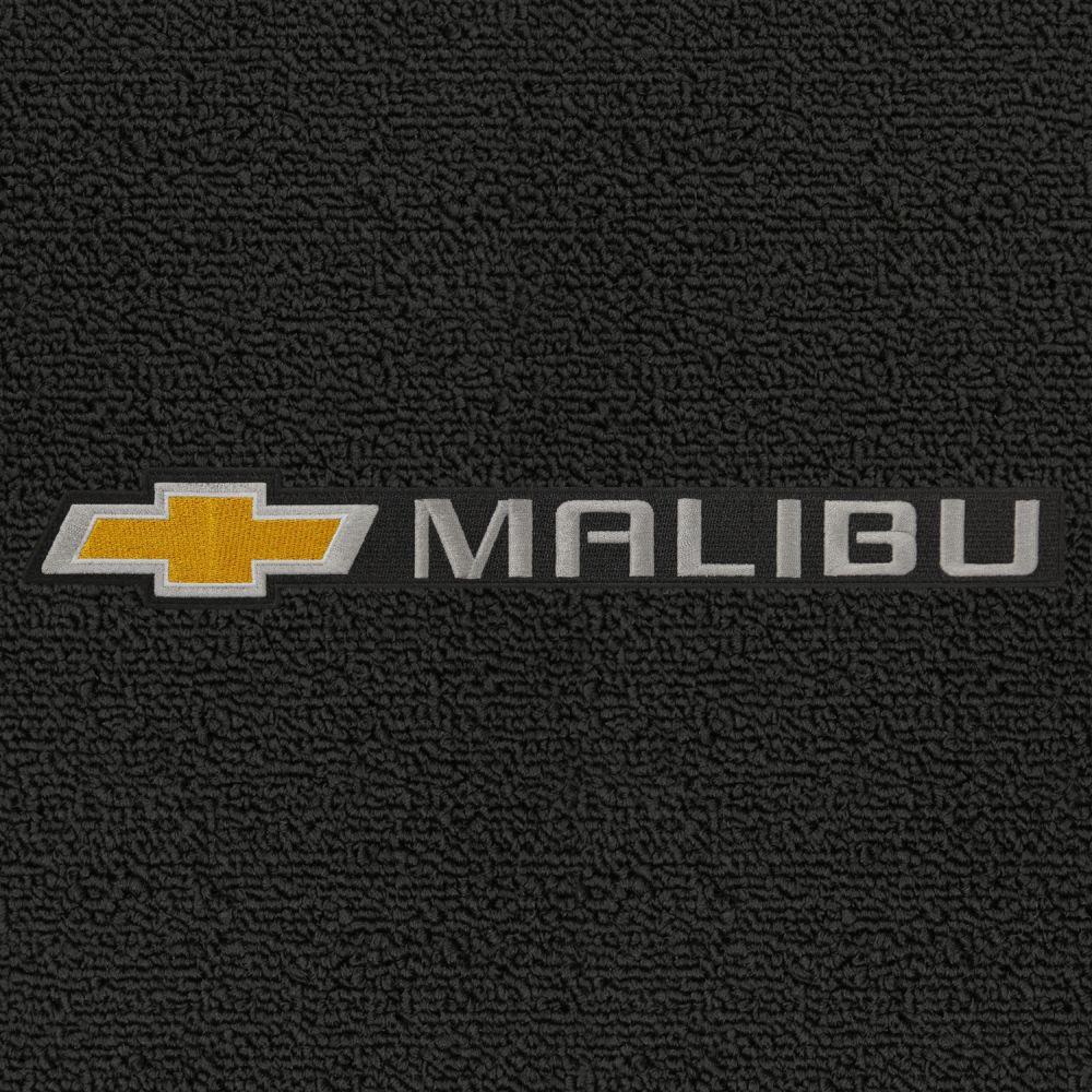 Lloyd Mats ® - Classic Loop Ebony Front Floor Mats For Chevrolet Malibu 2008-16 with Chevrolet Bowtie Malibu Applique