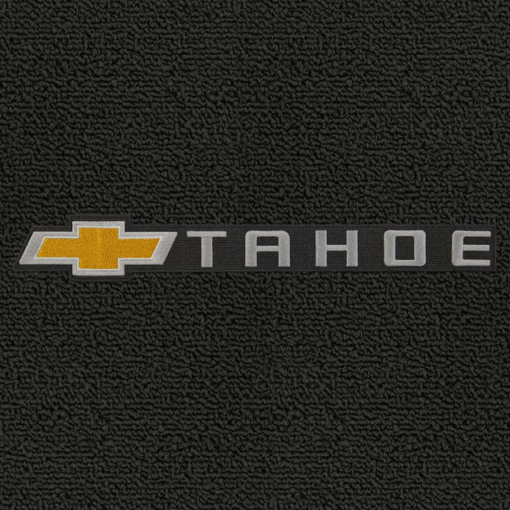 Lloyd Mats ® - Classic Loop Ebony Front Floor Mats For Chevrolet Tahoe 2007-17 with Chevrolet Tahoe Applique