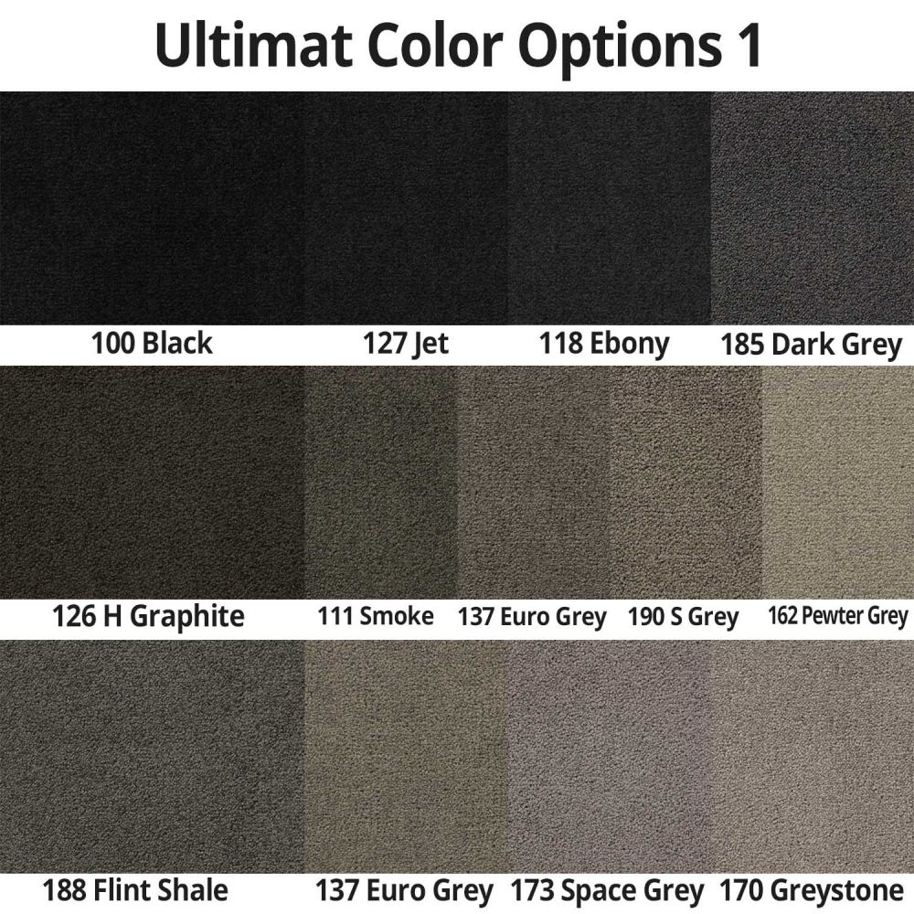 Lloyd Mats ® - Ultimat Ebony Front Floor Mats For Camaro SS with Black and Graphite SS Logo
