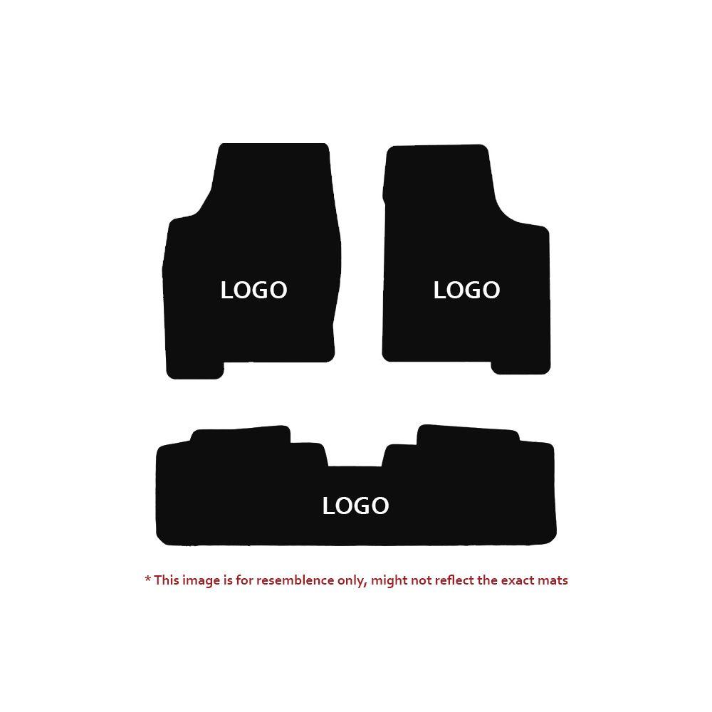 Lloyd Mats ® - Velourtex Black 3PC Floor Mats For Cadillac with Gold Cadillac Script Applique