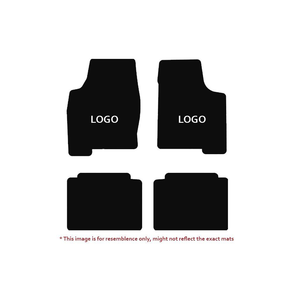 Lloyd Mats ® - Velourtex Black 4PC Floor Mats For Plymouth Barracuda with Silver Cuda Embroidery