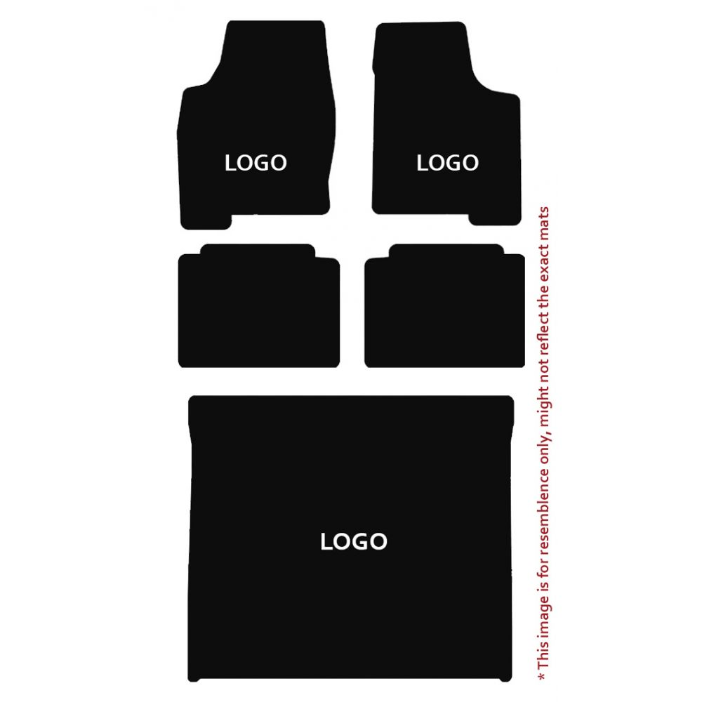 Lloyd Mats ® - Velourtex Black 5PC Floor Mats For Cadillac with Gold Cadillac Script Applique