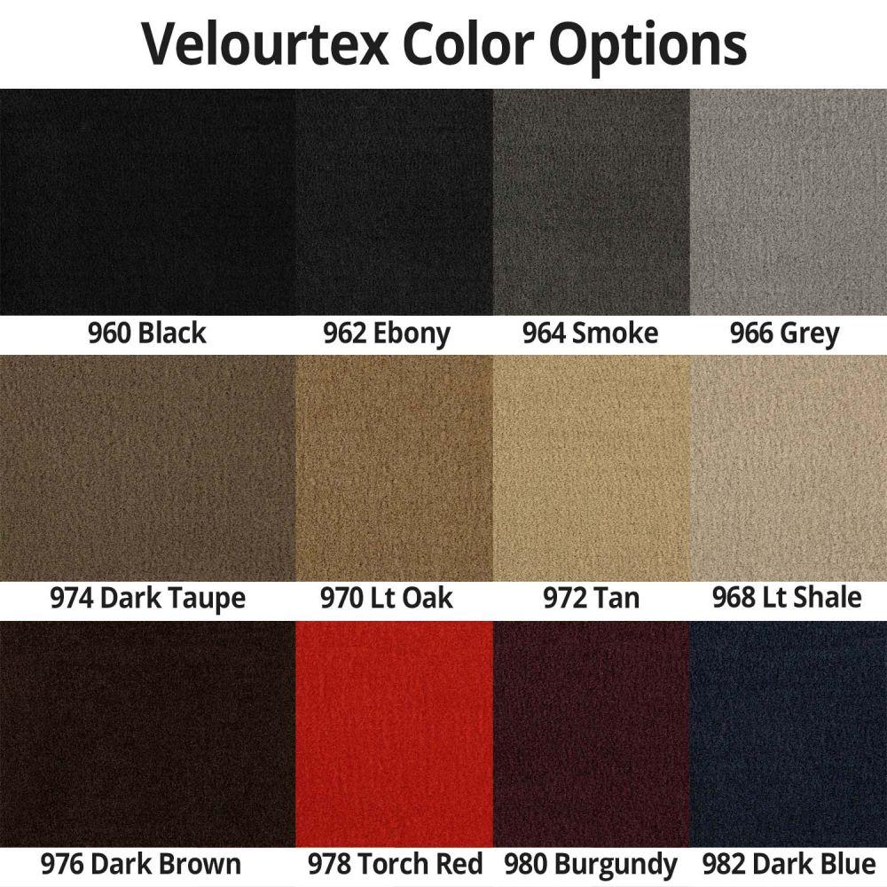 Lloyd Mats ® - Velourtex Black Front Floor Mats For Cadillac XTS with Silver Cadillac Crest and Cadillac Script Applique