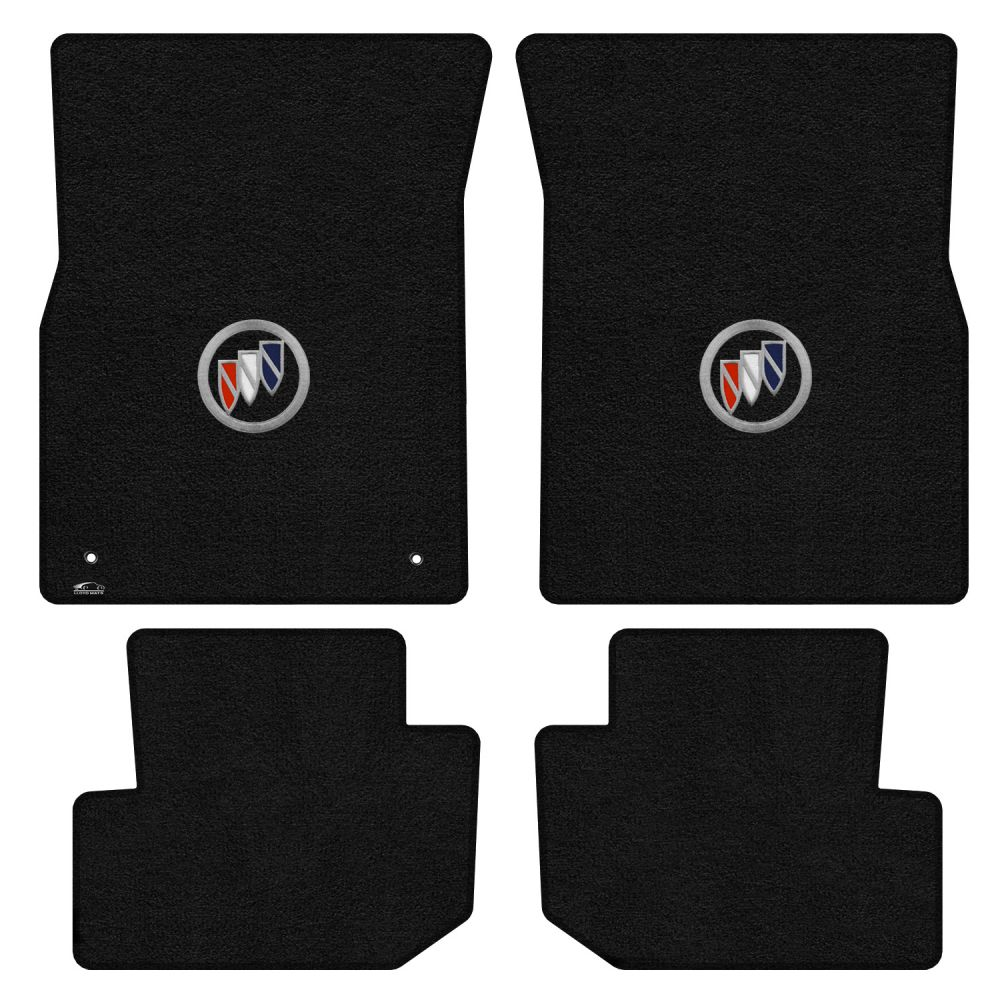 Lloyd ® - Ultimat™ Black Custom 4PC Floor Mats With Tri Color Shield Logo (600345)