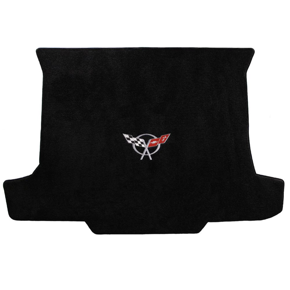 Lloyd ® - Ultimat™ Black Custom Cargo Mat With Silver C5 Flags Logo (600018)