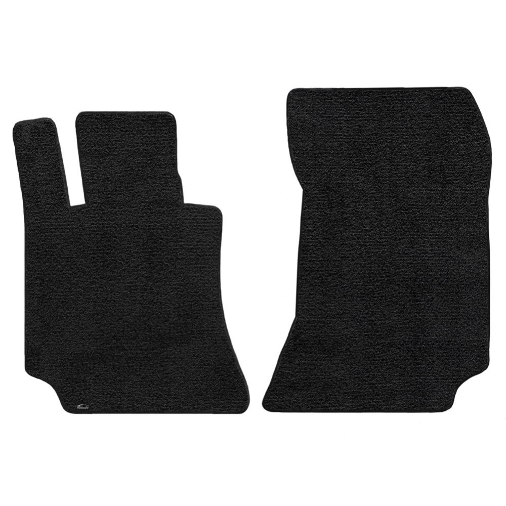 Lloyd ® - Ultimat™ Black Plain Custom Front Floor Mats (600116)