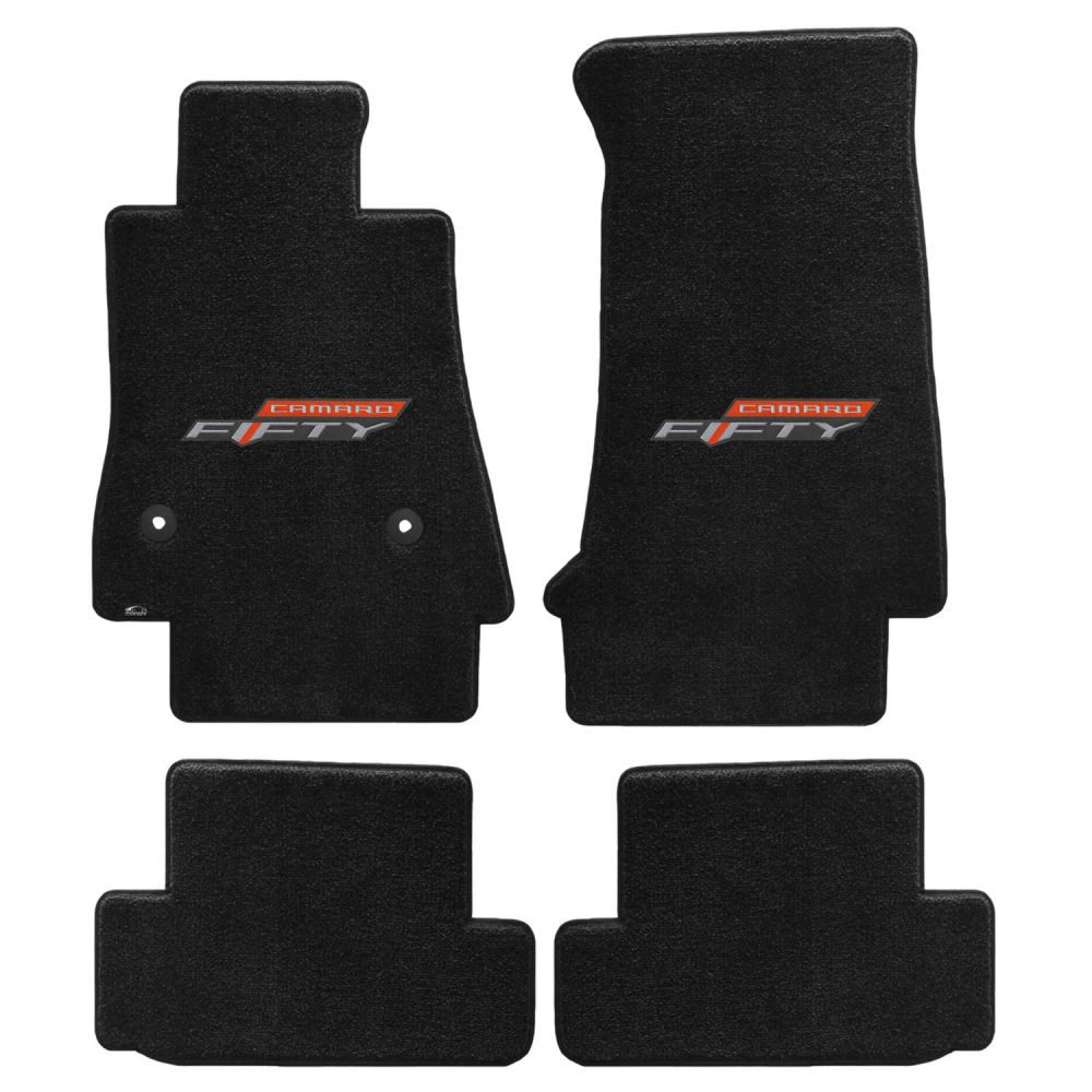 Lloyd ® - Ultimat™ Ebony Custom 4PC Floor Mats With 50Th Anniversary Logo (600281)