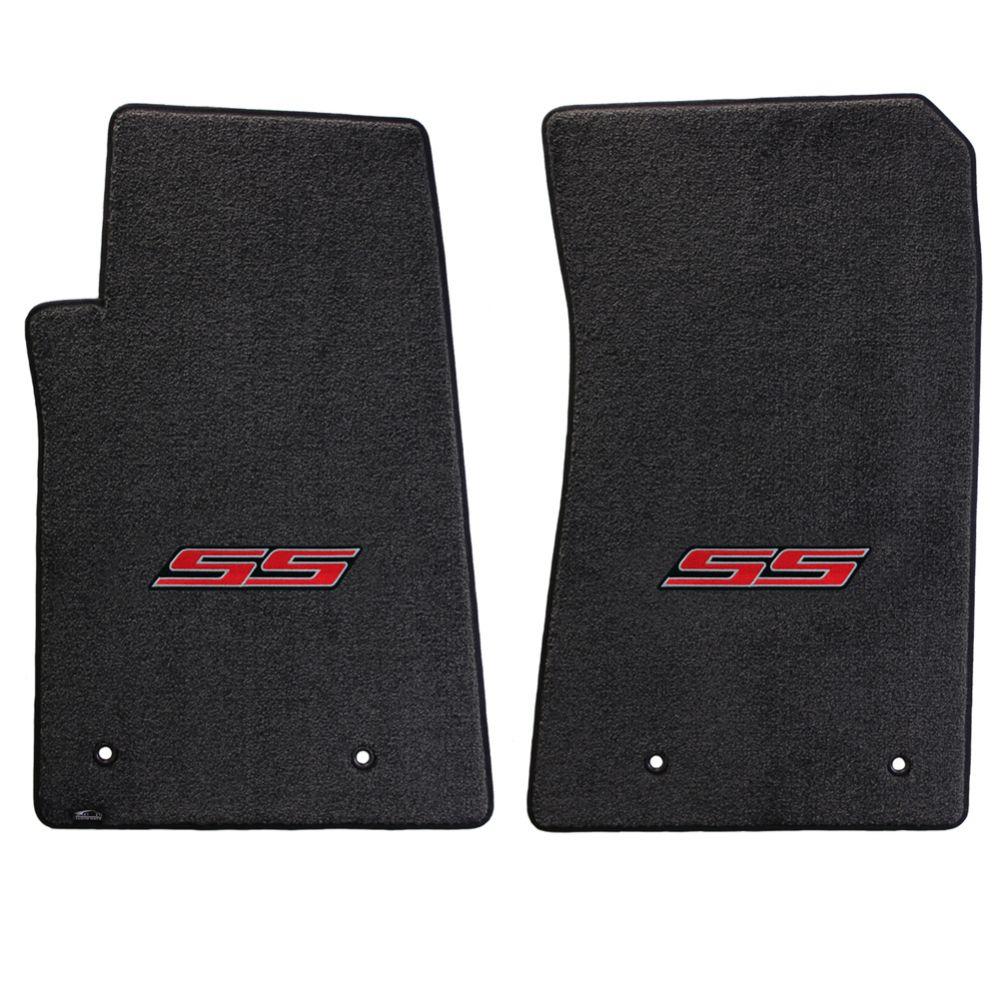 Lloyd ® - Ultimat™ Ebony Custom Front Floor Mats With Red SS Logo (600002)