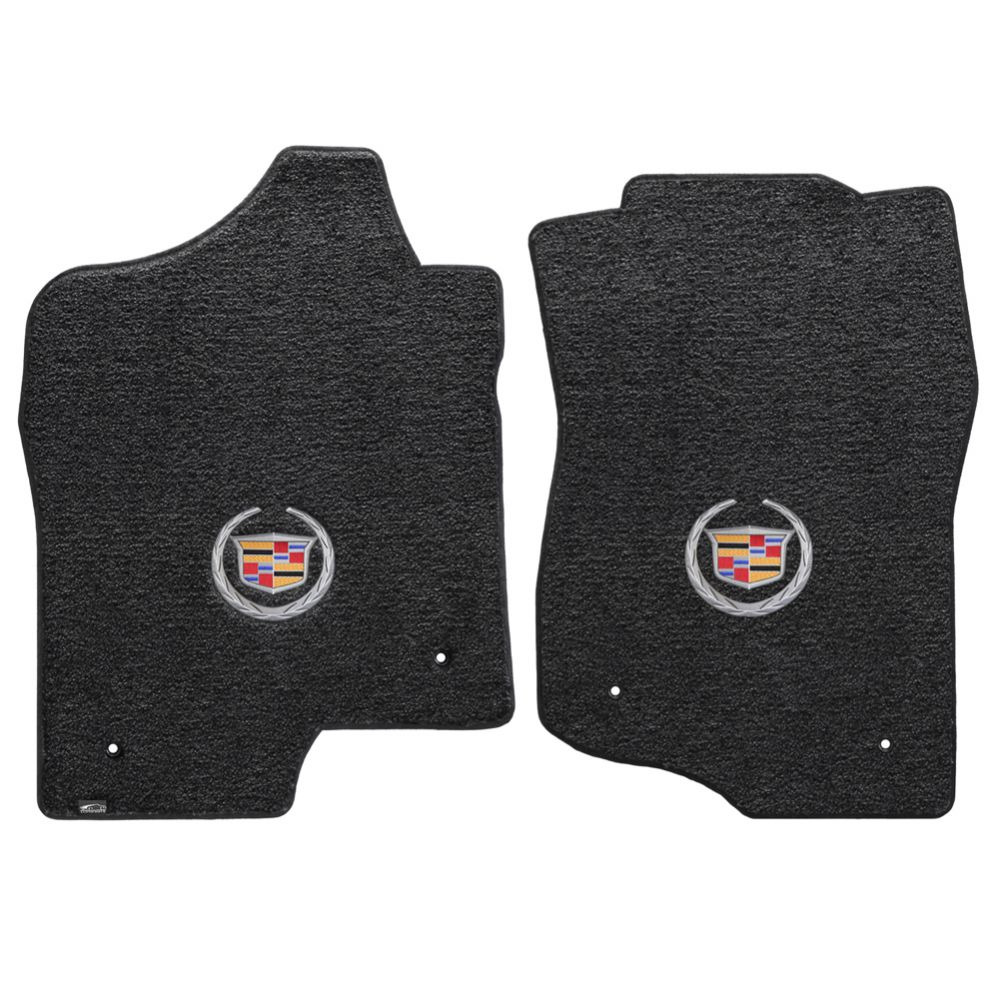 Lloyd ® - Ultimat™ Ebony Custom Front Floor Mats With Silver Cadillac Logo (600038)