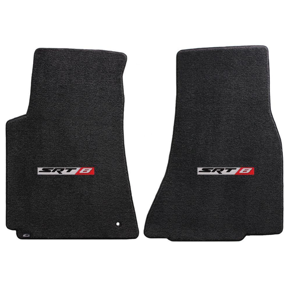 Lloyd ® - Ultimat™ Ebony Custom Front Floor Mats With SRT8 Logo (600022)