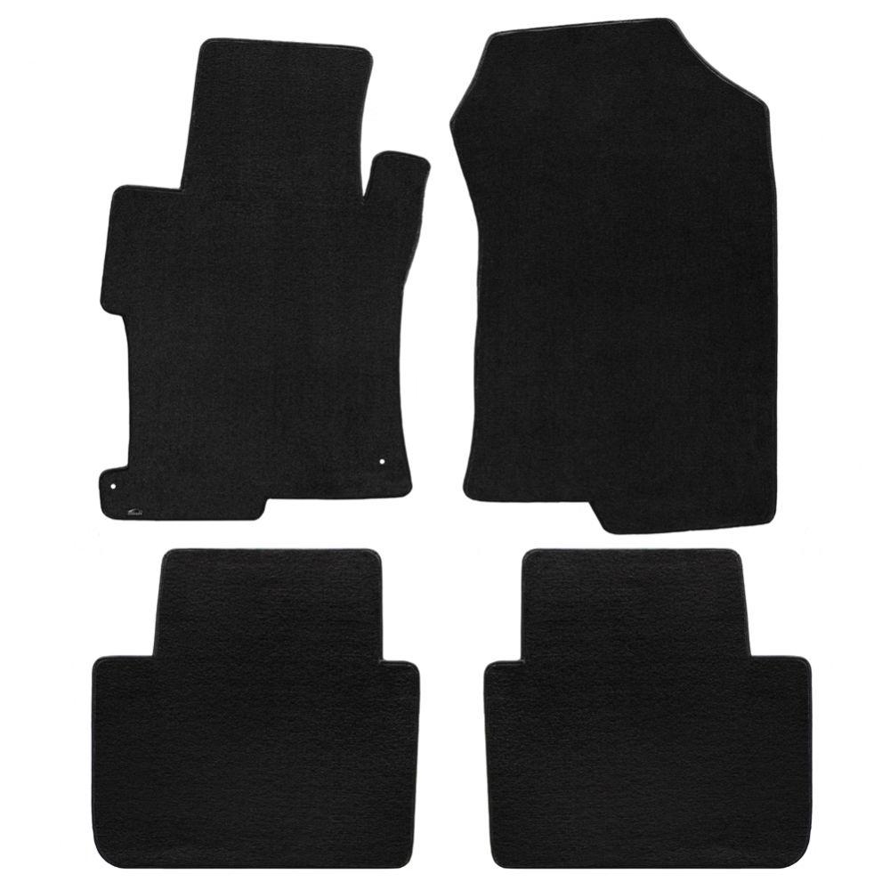 Lloyd ® - Velourtex™ Black Plain Custom 4PC Floor Mats (620097)