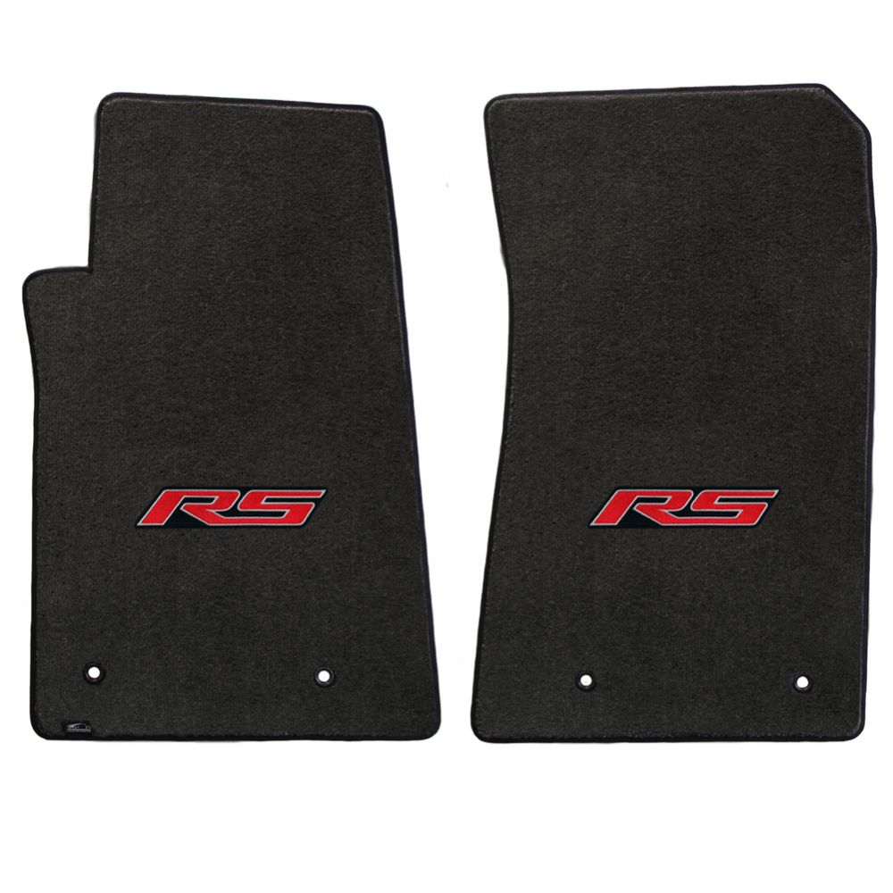 Lloyd ® - Velourtex™ Ebony Custom Front Floor Mats With Red RS Logo (620003)