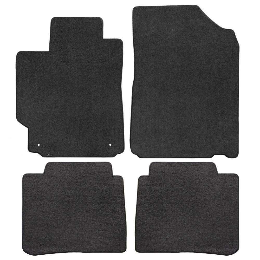 Lloyd ® - Velourtex™ Ebony Plain Custom 4PC Floor Mats (620105)