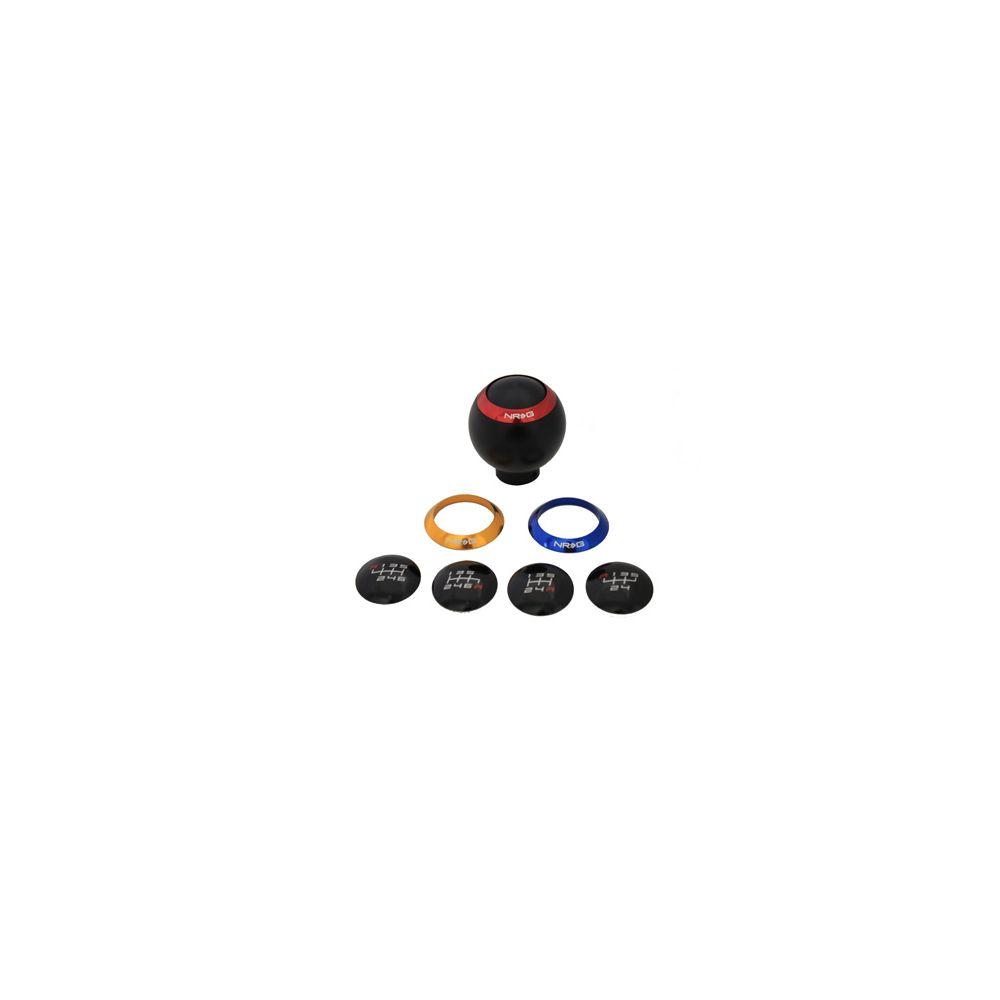 NRG ® - Black Shift Knob With 4 Interchangeable Rings (SK-016BK)