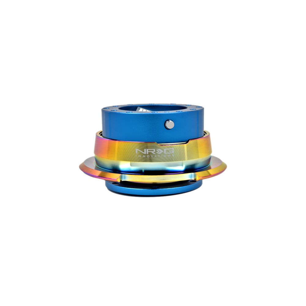 NRG ® - Quick Release Blue Body with Diamond Cut Neochrome Ring (SRK-280BL-MC)