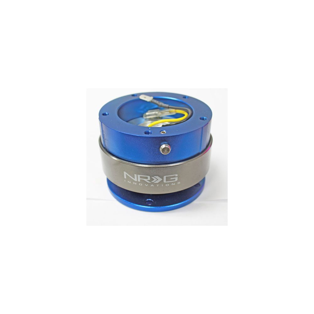 NRG ® - Quick Release Blue Body and Titanium Chrome Ring with 5 Hole Base and 5 Hole Top (SRK-300BL)