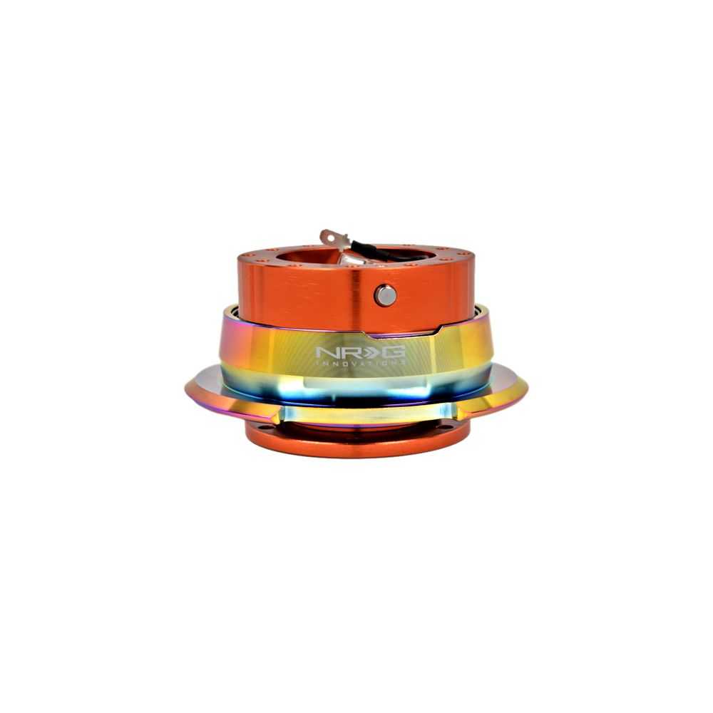 NRG ® - Quick Release Orange Body with Diamond Cut Neochrome Ring (SRK-280OR-MC)