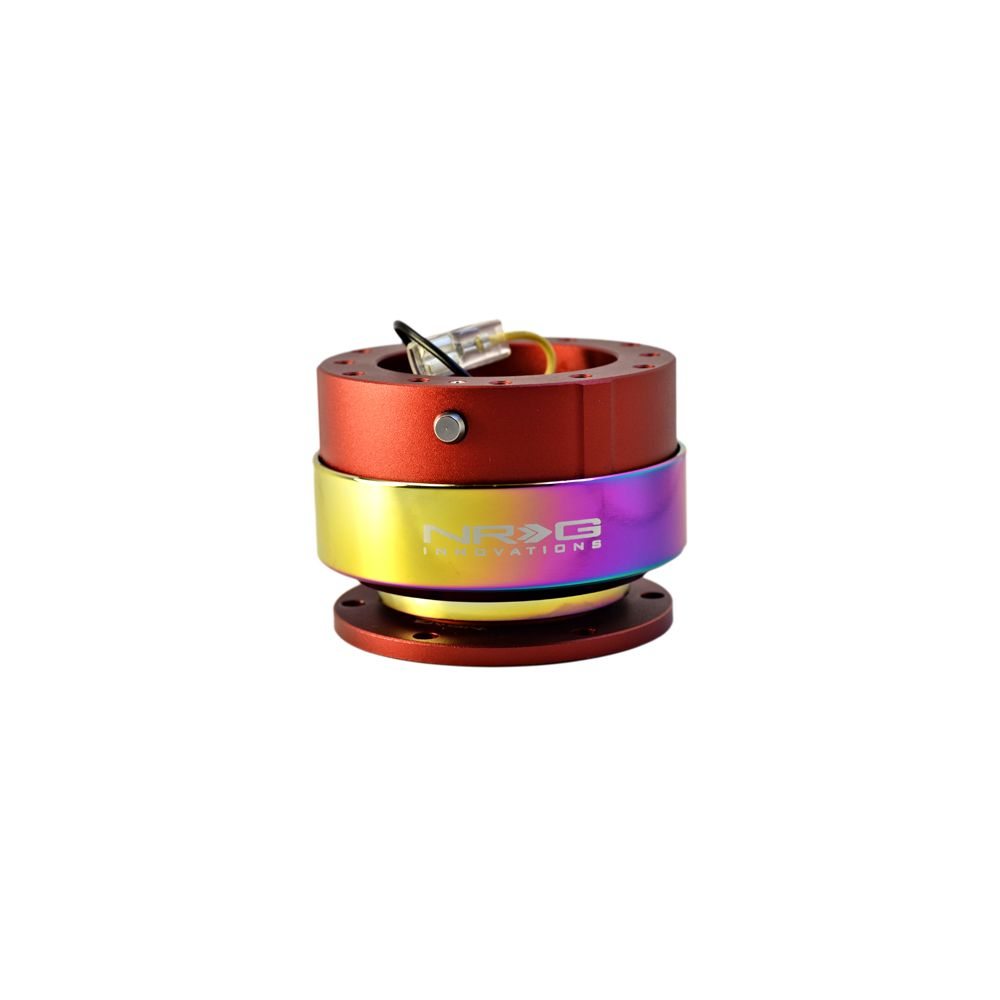 NRG ® - Quick Release Red Body with Neochrome Ring (SRK-200RD-MC)