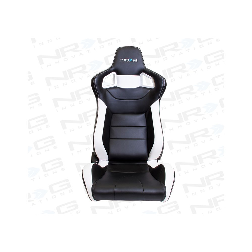 NRG ® - Right Black PVC Sport Racing Seat with White Stitch and NRG Logo (RSC-700R)