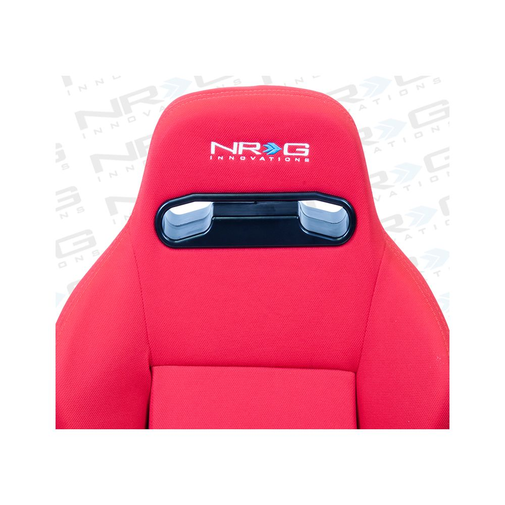 NRG ® - Right Red Cloth Type R Sport Racing Seat with Red Stitch and NRG Logo (RSC-210R)