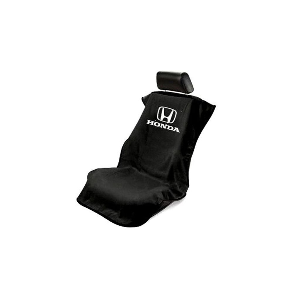 Seat Armour ® - Black Towel Seat Cover with Honda Logo (SA100HONB)