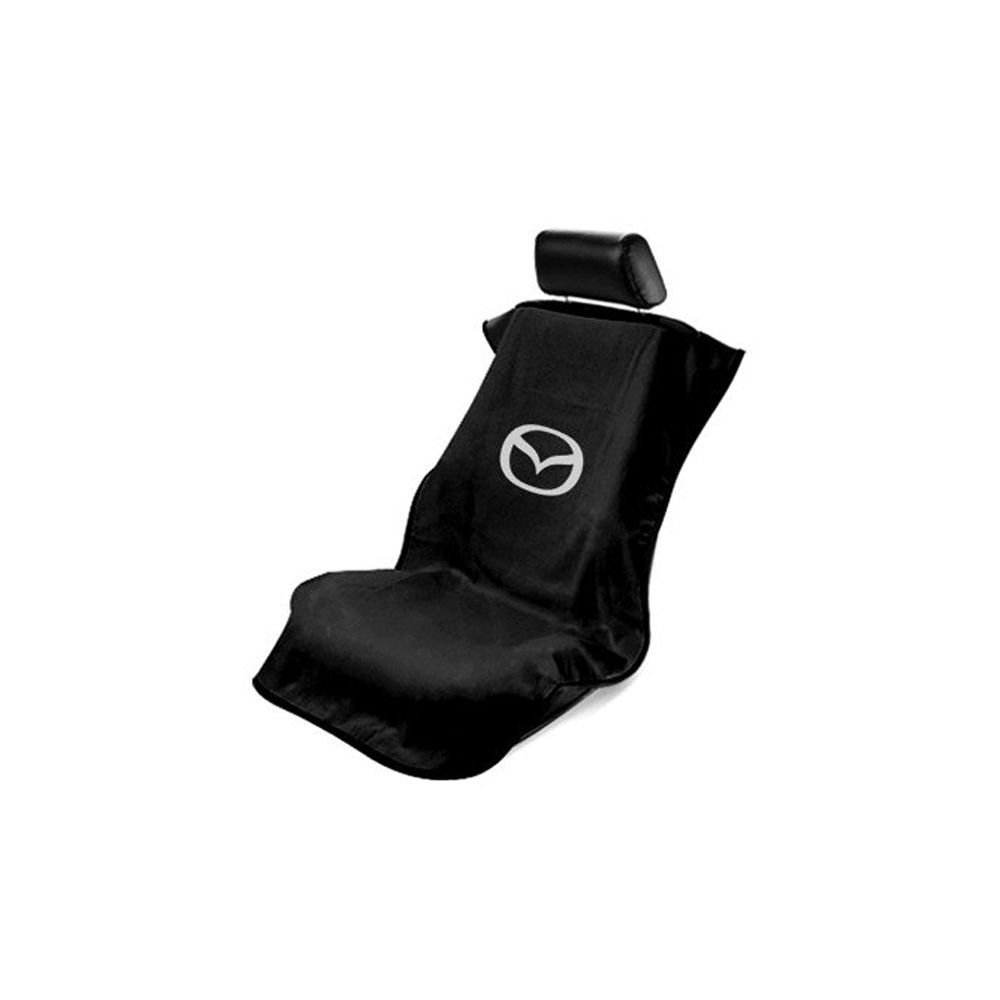 Seat Armour ® - Black Towel Seat Cover with Mazda Logo (SA100MZDB)