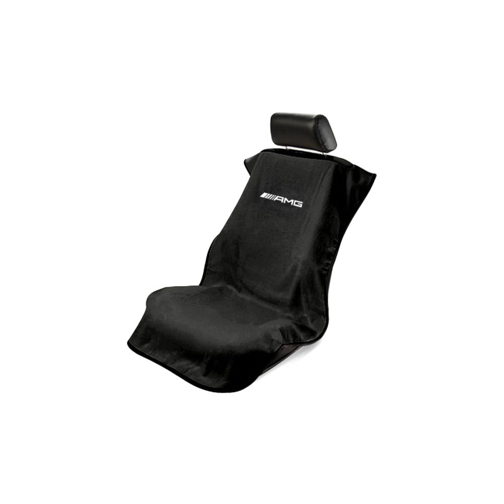 Seat Armour ® - Black Towel Seat Cover with Mercedes-Benz AMG Logo (SA100AMGB)