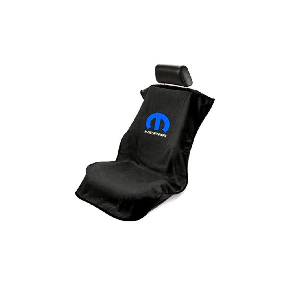 Seat Armour ® - Black Towel Seat Cover with Mopar Logo (SA100MOPB)