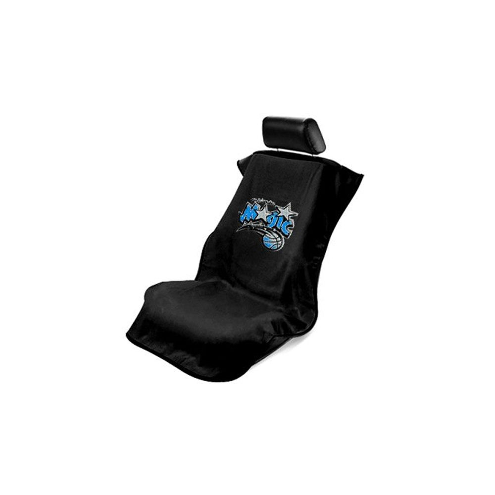 Seat Armour ® - Black Towel Seat Cover with NBA Orlando Magic Logo (SA100MAGI-B)