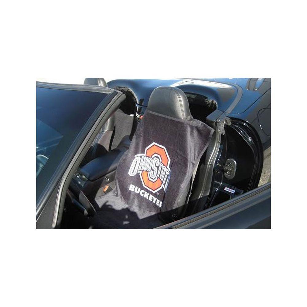Seat Armour ® - Black Towel Seat Cover with NCAA Ohio Buckeyes Univ. Logo (SA100OHIO)