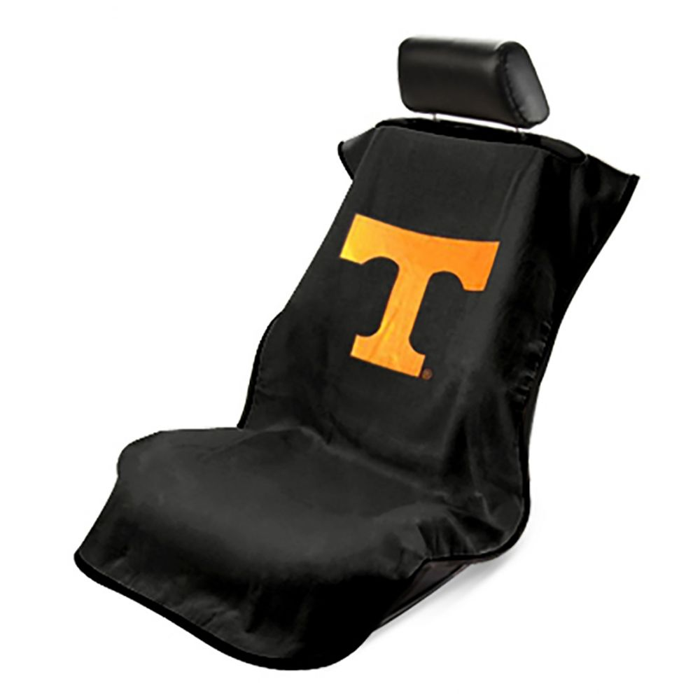 Seat Armour ® - Black Towel Seat Cover with NCAA Tennessee University Logo (SA100TENNSS)