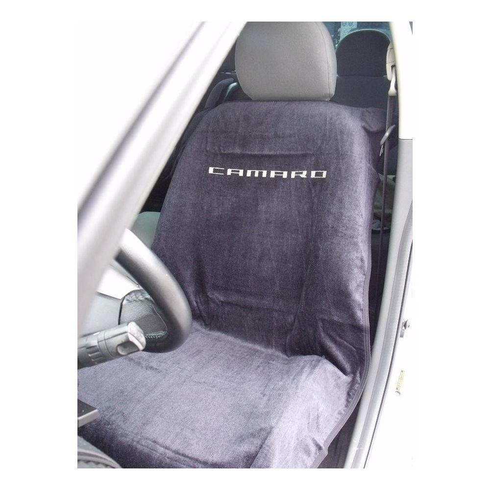 Seat Armour ® - Black Towel Seat Cover with New Camaro Logo (SA100NCAMB)