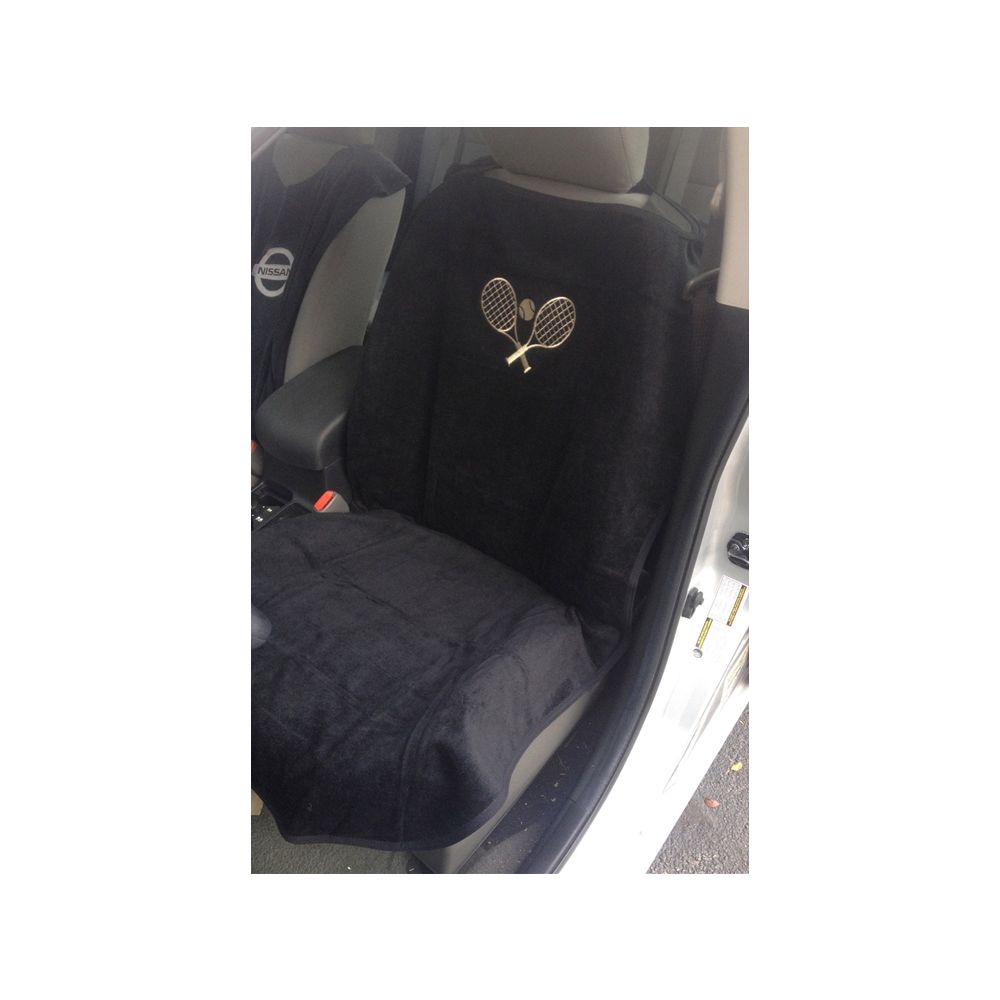 Seat Armour ® - Black Towel Seat Cover with Tennis Logo (SA100TRCQBE)
