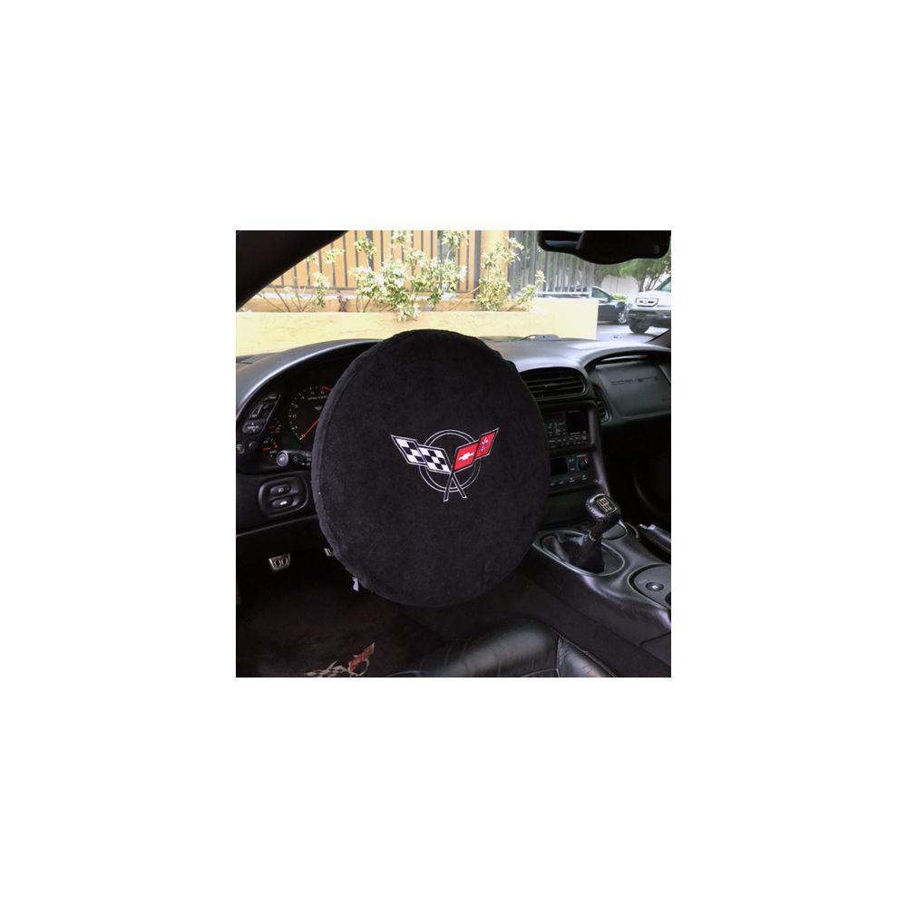 Black 5PC Towel Protectors For Corvette C5 -Seats Console Trunk & Steering Wheel