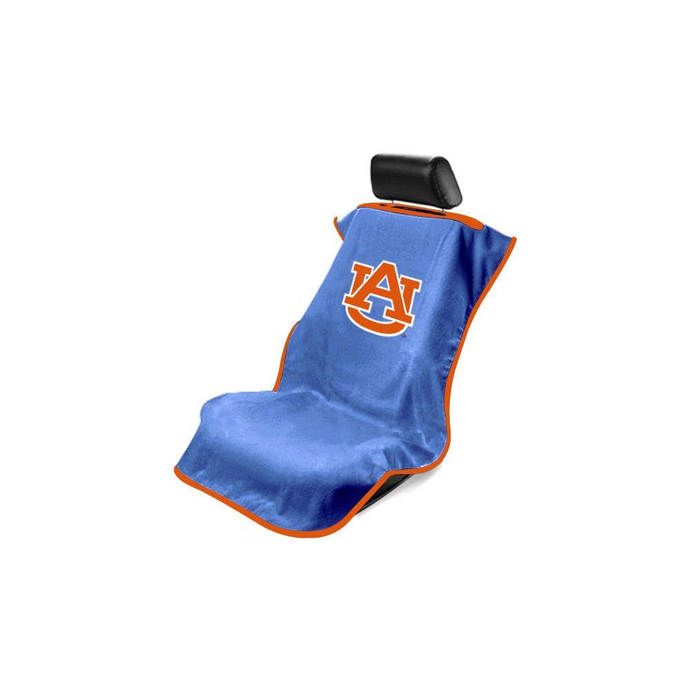 Seat Armour ® - Blue Towel Seat Cover with NCAA Auburn University Logo (SA100AUBURN)