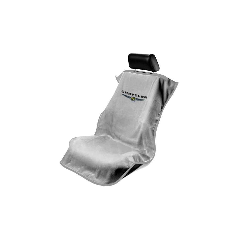 Seat Armour ® - Grey Towel Seat Cover with Chrysler Logo (SA100CHRG)