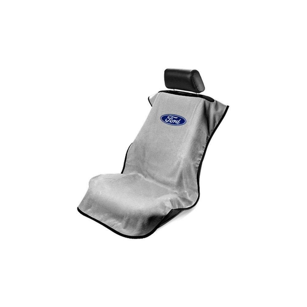 Seat Armour ® - Grey Towel Seat Cover with Ford Logo (SA100FORG)