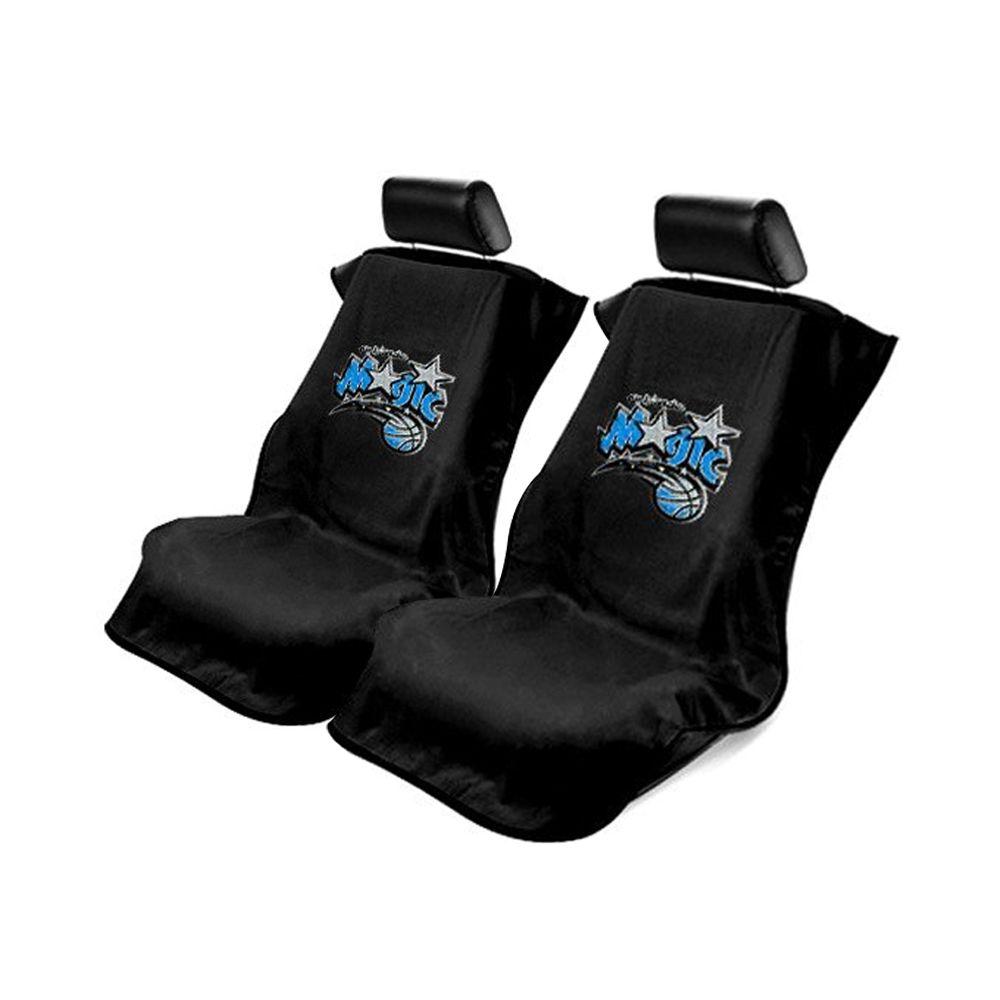 Seat Armour ® - Pair of Black Towel Seat Covers with NBA Orlando Magic Logo (SA100MAGI-B)
