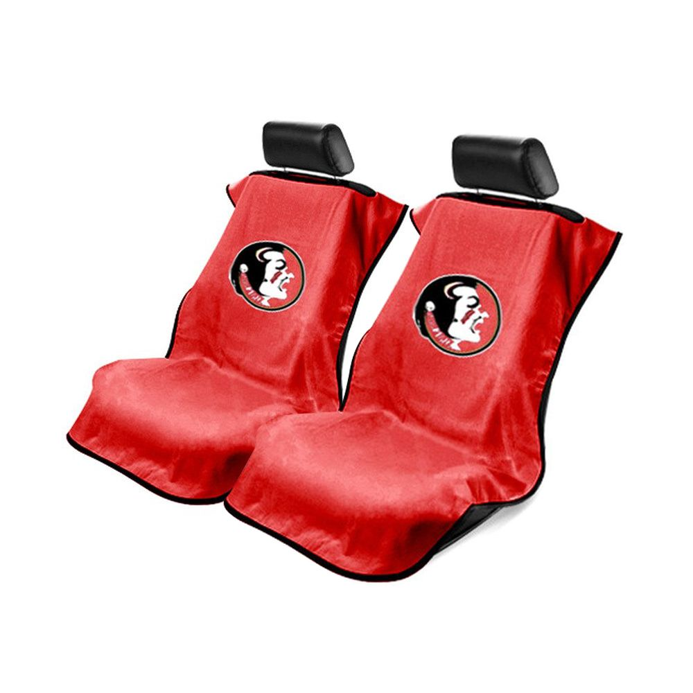 Seat Armour ® - Pair of Red Towel Seat Covers with NCAA FSU Seminoles Logo (SA100FSU)